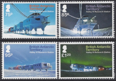 2013 British Antarctic. SG.630-3 Halley VI Research Station. set 4 values U/M (MNH).