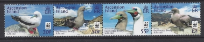 2016 Ascension Island. SG.1241a-4a Red Footed Booby (without white frame) set 4 values U/M (MNH)