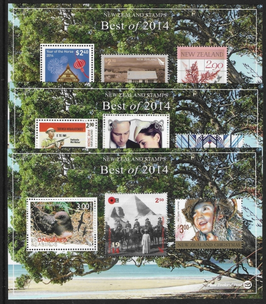2014 New Zealand. best of New Zealand  mini sheets set 3  U/M (MNH)