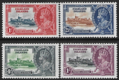1935 Falkland Islands - KGV Silver Jubilee SG.139-42  lightly mounted mint. Cat. value £48.00