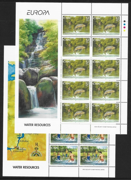 2001  Ireland  SG.1420-1  Europa - Water Resources Sheetlets of 10 U/M (MNH)