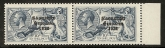 1927 KGV SG.85a 10/- blue Wide & narrow date pair U/M (MNH)  SCARCE
