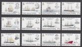 2008 British Antarctic Territories. SG.461-72  Explorers & Ships.  u/m