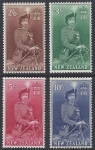 1954  New Zealand SG.733d/6 High values U/M (MNH)