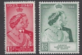 Aden/Seiyun - 1948 Royal Silver Wedding SG.14 - 15 u/m