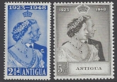 Antigua - 1948 Royal Silver Wedding SG.112/3 u/m