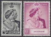 Ascension Island 1948 Royal Silver Wedding SG.50/1 u/m