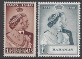Bahamas 1948 Royal Silver Wedding SG.194/5 u/m