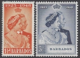 Barbados - 1948 Royal Silver Wedding SG.265/6 u/m