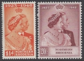 Northern Rhodesia - 1948 Royal Silver Wedding SG.48/9 u/m