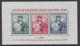 1949 Germany - Allied Occupation - British & American Zones. - SG. MSA.145 Hannover Trade Fair Mini Sheet  -  unmounted mint (MNH)