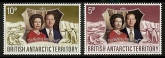 1972 British Antarctic. - Royal Silver Wedding SG.42/3 U/M