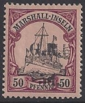 German Post Office Marshall Islands  Australian Occupation SG.57 50pf overprinted