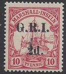 Marshall Islands - Australian Occupation  - 10pf overprinted GRI 1d on 2d  mounted mint