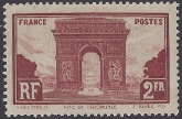 France 1931 Arc de Triumphe Paris SG.471 m/m