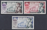 1953 Monaco - SG.475-7 Anniv. discovery of Anaphylaxis set 3 values U/M (MNH)