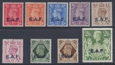 1943-6 East Africa Forces (Somalia EAF) SG. S1/9  9 values unmounted mint (MNH)
