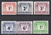 Northern Rhodesia  1963 Postage dues set of 6 values SG. D5/10  u/M (MNH)