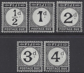 1918 Fiji postage dues SG.  D6 - 10  set 5 values unmounted mint (MNH)
