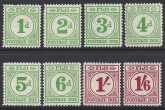 Fiji  1940 postage dues SG. D11 - 18 set 8 values unmounted mint (MNH)