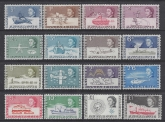 1963-9 British Antarctic  SG.1-15a incl. both £1 values u/m (MNH)