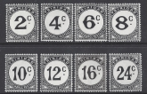 Trinidad & Tobago 1947 SG. D26a - 33a Postage Dues 8 values unmounted mint (MNH)