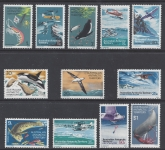 1973 Australian Antarctic SG.23/34 set 12 values U/M (MNH)