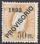 1893 Portugal SG.311 - 50r on 80r pale orange mounted mint.