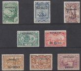1911 Portugal - SG455-62 Madeira overprinted 'Republica' set 8 values mounted mint.