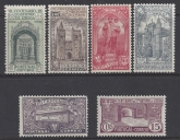 1931 Portugal - SG.853-8 Death Anniversary St. Anthony set 6 values mounted mint.