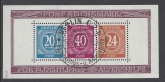 1946 Germany - Allied Occupation - American, British & Soviet Russian Zones - SG. MS925a mini sheet Perf. very fine used.