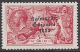 1928 KGV  SG.87 5/- rose red lightly mounted mint.