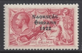 1928 KGV  SG.87 5/- rose red U/M (MNH)