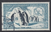 1956 French Antarctic - SG.17 100F Emperor Penguins & Snow Petrel. very fine used.