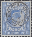 1912 Great Britain SG.319 10/- blue very fine used