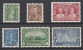1935 Canada - SG.335/40 KGV Silver Jubilee set 6 values unmounted mint (MNH)
