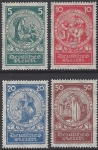 1924 Germany  SG.365/8 Welfare Fund set 4 values U/M (MNH)