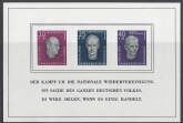 1957 GDR (East Germany) National Memorial Fund mini sheet SG. MSE349a U/M (MNH).