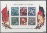1955 GDR (East Germany) 135th Birth Anniversary of Engels - Mini Sheet (imperf)SG.MSE233a  u/m (MNH)