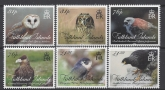 2016 Falkland Islands SG.1338-43 Birds of Prey set 6 values U/M (MNH)