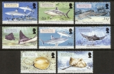 2005 British Indian Ocean Territory - SG.336-43  Sharks & Rays set 8 values  u/m (MNH)