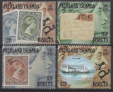 1991 Falkland Islands.  SG.639-42  Centenary of Bisected Surcharges. set 4 values U/M (MNH)