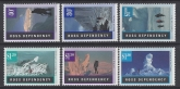 1996 Ross Dependency. SG.38-43 Antarctic Landscapes. set 6 values U/M (MNH).