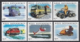 2000 Ross Dependency. SG.66-71 Antarctic Transport. set 6 values U/M (MNH)
