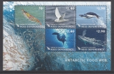 2013 Ross Dependency. MS.144  Antarctic Food Web. mini sheet.  U/M (MNH)
