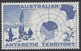 1957 Australian Antarctic Territories. SG.1 1954 Expedition to Westfold Hills & Map. U/M (MNH)