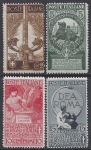 1911 Italy. SG.86-9  Jubilee of The Kingdom of Italy. set 4 values M/M