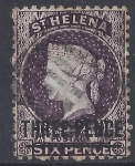 1873 St. Helena. SG.12 3d deep dull purple Perf 12½ Type A fine used.
