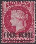 1864 St Helena SG.13 4d carmine Type A (words 17mm long) mounted mint.