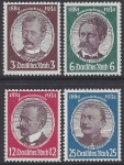 1934 Germany SG.537-40 German Colonizers Jubilee set 4 values U/M (MNH)